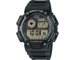 Casio AE-1400WH-1AVEF Collection, Luce led, Funziona ora mondiale, Cronometro