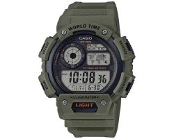 Casio AE-1400WH-3AVEF Collection, Luce led, Funziona ora mondiale, Cronometro
