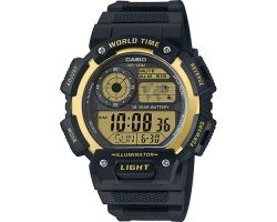 Casio AE-1400WH-9AVEF Collection, Luce led, Funzione ora mondiale, Cronometro