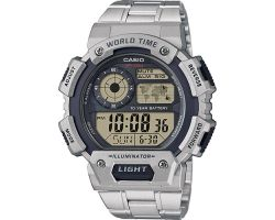 Casio AE-1400WHD-1AVEF Collection, Luce led, Funzione ora mondiale, Cronometro