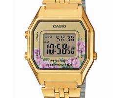 Casio LA-680WEGA-4CEF Orologio Donna polso Vintage Nuovo Sveglia Luce Batt 5 anni